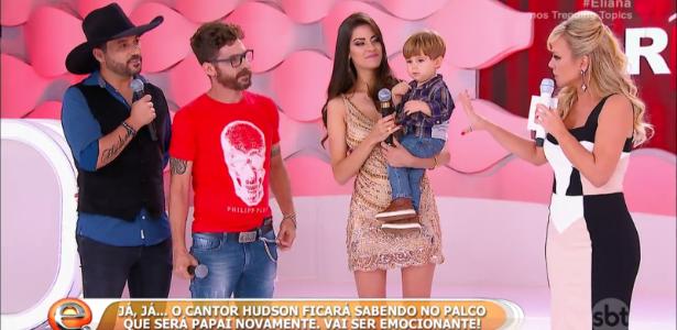 Sertanejo Hudson será pai pela 2ª vez e sabe de notícia na TV