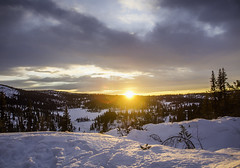 Nord-Aurdal (eriknst) Tags: valdres oppland nord aurdal norge norway norwegen mountains snow sunset landscape olympus zuiko mft sky clouds cloud red white blue cold trees winter calm 2016 eriknst ro