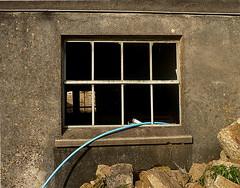 Higher Treglisson (leavesandpuddles) Tags: cornwall cornish kernow penwith eastpenwith hayle treglisson window fenêtre decaying decay farm farming hose hosepipe rendering barn derelictbarn ruraldecay