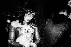 The Dog. Manhattan (velocityzen) Tags: 28mm bandw blackandwhite bw f28 film filmaintdead gr1v iso400 kodak kodak400tmax lensculture newyork ricoh ricohgr1v street