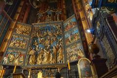 Veit Stoss altarpiece in Krakw (marko.erman) Tags: krakw poland stmarychurch church architecture gothic altar wood wooden altarpiece art treasure sculptur veitstoss carved basilica sony cracow