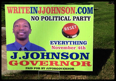 Write In J. Johnson (~ Lone Wadi Archives ~) Tags: mesaarizona sign signage politics governor americansouthwest roadside candidate politicaloffice politicalparty