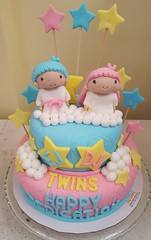 Little Twin Stars Cake (DC Cafe Roxas) Tags: little twin stars sanrio fondant birthday cake dc cafe roxas city divine cakes bakeshop iloilo