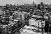 Rooftop 93 (Brandon Godfrey) Tags: newyorkcity newyork nyc manhattan city urban thebigapple bw blackandwhite monochrome cityscape bowery midtownmanhattan skyline empirestatebuilding chryslerbuilding highrises buildings