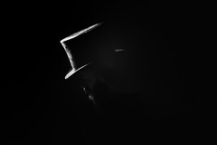 * (Johan Gustavsson) Tags: me self studio profotob1 selfportrait sjlvportrtt bw blackandwhite svartvit svartvitt johangustavsson huvudbonad hatt hat fotosondag fs161106