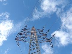 High Voltage Sky (gittermasttyp2008) Tags: highvoltage highvoltagetower hochspannungsmast hochspannungsleitung himmel strommast strommasten strom stahlgittermast stahl energie electricitytower energy erdseil eisen gittermast gittermasten germany gitter german latticetower leitung latticeclimbing leiterseile lattice powertower power pylon powerpole powerpylon blue art sky abend abspannmasten aussicht
