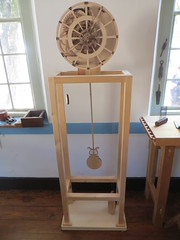 Clock mechanism (Joel Abroad) Tags: oldsalem northcarolina johnvogler silversmith watchmaker house workshop clock