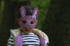 (Sonya Gencheva) Tags: people portraits children candid kids child girl bunny pink mask woods sticks