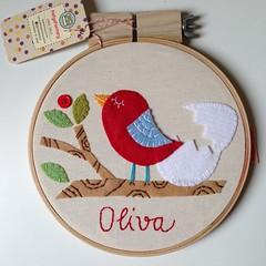 Oliva (Carol Grilo • FofysFactory®) Tags: quadrinho bastidor hoop handmade craft carolgrilo fofysfactory feltro brasil decor decoração