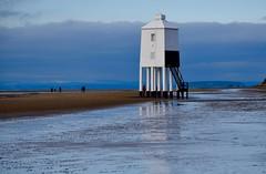 Moody Light (lizfy30) Tags: lighthouse burnhamonsea wood stilts beach sand cloud reflection
