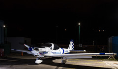 G-BVHC Grob Heron, Dundee (wwshack) Tags: dnd dundee egpn grobg109 heron night riverside scotland taysideaviation motorglider gbvhc