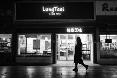 Snapshot_0531 (Huang Qing) Tags: 28mm candid china night street ricoh gr dark stranger silhouette lungtaai blackandwhite streetphotography monochrome cakeshop winter cold