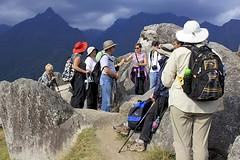 Machu Picchu (oxfordblues84) Tags: oat overseasadventuretravel peru machupicchu unescoworldheritagesite unesco bucketlistdestination cusco cuscoprovence lostcityoftheincas andes travelers laine redhat shirley larry wilfredo tourists tourist people group