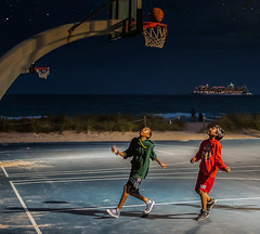 The Joy of Sport (Chuck LaChance) Tags: sports sport basketball kids ocean florida recreation fun night