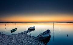 Dusk (davidparenteau) Tags: sunset hrault prols etang barques rflections eau languedoc