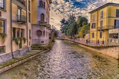 Naviglio Monzese (antoniosimula) Tags: urban monza naviglio fiume river sky cielo sigma 1770 allaperto city città nikond3200 palazzi architettura autofocus ngc