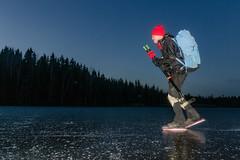Bengt i skymningen (David Thyberg) Tags: långfärdsskridsko västmanland winter västmanlandslän nature skate sweden 2016 skinnskatteberg skating ice sverige