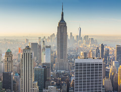 New York Skyline from Top of the Rock (Stefan Sjogren) Tags: new york empire state building world trade center wtc top rock skyline usa bridge verazzano narrows midtown