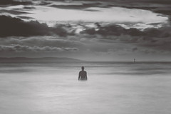 man at sea (swolstenholme1977) Tags: crosbybeach crosby beach long exposure art instalation another place gormley liverpool