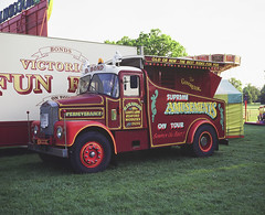 Lorry at Fun Fair (cliffpatte) Tags: fuji kodak e100vs gf670