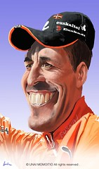 MIKEL ASTARLOZA.......:).  (ciclista de euskaltel) (Unaipad2010) Tags: color colour art apple photoshop artwork paint fineart digitalart picture adobe caricature dibujo wacom ilustration caricatura ilustracion ilustracin cs5 cintiq12wx unaipad