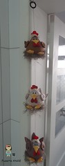 Móbile Galinhas Gorduchinhas (Fuzarte Ateliê - Rachel Justo) Tags: galinha patchwork cozinha móbiles