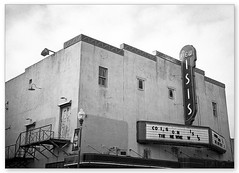 New Isis (oldglass) Tags: abandoned theater artdeco ftworth stockyard theatermarquee newisis oldabandonedtheater