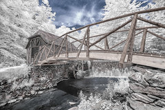Gomez Mill House - Infrared (Mike Orso) Tags: travel ny newyork mill water metal museum print ir photography photo waterfall scenery gallery unitedstates image fineart stock scenic canvas filter license marlboro infrared gomez newburgh falsecolor 720nm invisiblelight convertedcamera gomezhouse whitefoliage mikeorso