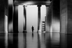 (donvucl) Tags: bw london reflections shadows interior columns figure tatebritain lightandshade nikond7000 donvucl