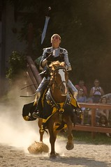 Sir Morik flips his sword into the air (and yes, he caught it) (Pahz) Tags: horses horse knights lance sword knight renfaire joust swordfight renaissancefaire bristolrenaissancefaire renfest jousting kenoshawi jouster thejousters sirmorik