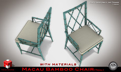 | MESHWORX | - Macau Bamboo Collection Tables and Chairs [ Teal ] exclusively at FaMeshed through August 2013 (MESHWORX [ by Loz Hyde]) Tags: vintage industrial chairs maya mesh bamboo secondlife decorating tables artdeco interiordesign builder midcentury homegarden urbanchic comtemporary modernclassic virtualhome meshlights meshchair virtualfurniture lozhyde meshworx meshsofa meshcreations fameshed meshbuild meshbuilding meshbuilder mesh3dmodeling meshlamps meshcreator secondlife3dmodeling contempraryclassic secondlifemeshbuilder meshbamboo