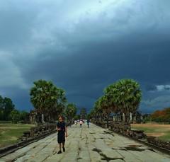 Monsoon approaching Angkor Wat (castle.corin) Tags: temple cambodia monsoon angkor wat