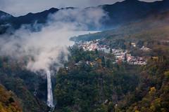 kegon waterfall nikko,japan (kapuk dodds) Tags: autumn cloud japan fog waterfall leaf change nikko kegon