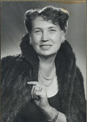 1946. Annus (elinor04 Thanks for 15,000,000+ views!) Tags: family portrait woman fashion vintage fur hungary photographer coat budapest style pearls 1940s angelo collar hairstyle elegance funkpl vision:people=099 vision:f