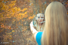 Alice In Wonderland (Phillip Moore Photography) Tags: autumn portrait fall colors leaves cards idea model tea alice creative disney dreamy wonderland teaparty aliceinwonderland throughthelookingglass