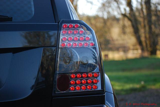 black tubes headlights led plastic dodge custom 2008 ipex taillights smoked caliber motoring