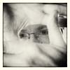 Face framing (glukorizon) Tags: monochrome face sepia hand finger frame half thumb luc zelfportret oog selfie odc gezicht vinger kader duim monochroom odc2 ourdailychallenge