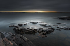 Rock cracks (- David Olsson -) Tags: longexposure morning oktober lake seascape nature water clouds sunrise dark landscape dawn early lowlight nikon october rocks darkness cloudy sweden outdoor stones cliffs le fullframe fx dim grad vr vnern d800 hammar vrmland 1635 ndfilter blackglass 1635mm lakescape gnd smoothwater fiskevik 2013 leefilters bonsudden lenr fiskvik bigstopper davidolsson rggrdsviken 06hard 1635vr