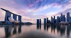 Earn & Burn (Mabmy) Tags: city blue sunset skyline night canon evening singapore cityscape cityhall wide sigma cbd 12mm scape ultrawide 1224 mbs sigma1224 1dx canon1dx