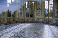 (The Integer Club) Tags: windows paris france film 35mm reflections tiles versailles marble folly canoneos300 petitetrianon