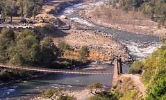 Bridge on the River Beas. (mala singh) Tags: india river valley himalayas kullu beas himachalpradesh