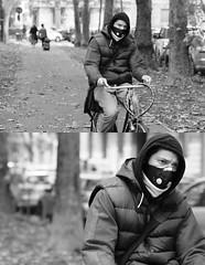 [La Mia Città][Pedala] (Urca) Tags: portrait blackandwhite bw italia milano bn ciclista biancoenero bicicletta pedalare 2013 5981 dittico ritrattostradale