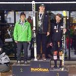 U18 Men's Podium at Panorama Keurig Cup super-G Dec/13 - 1. Peter Fucigna, USA; 2. Riley Seger, WMSC; 3. Jeffrey Read (BAR)