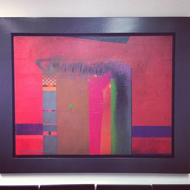 """Pasión en rojo"" de Eduardo Cochachin $1000 • Bazarte #bazarte #arteenlima #artinlima #arte #art #artist #artista #pintura #painting"
