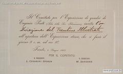 Eugenio Prati Invito all'inaugurazione mostra Trento 1907