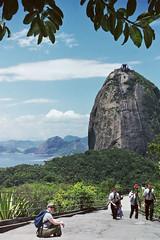 Sugar Loaf mountain, Rio de Janeiro, Brazil (Miche & Jon Rousell) Tags: sea brazil mountain beach southamerica rio riodejaneiro clouds sand clear sugarloaf copocabana copocabanabeach