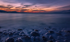 Sea stones (Vagelis Pikoulas) Tags: blue winter light sunset sea sky sun mountain mountains west colour reflection beach rock night clouds canon landscape eos kiss rocks europe day waves niceshot view cloudy greece western 1855mm x4 attiki vilia 2013 550d abigfave alepochori colorphotoaward bestcapturesaoi alepoxwri mygearandme mygearandmepremium mygearandmebronze mygearandmesilver mygearandmegold ringexcellence photographyforrecreationeliteclub musictomyeyeslevel1 photographyforrecreationclassic