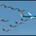KLM Critically Ill Children Flypast with 10 F-16's - KLu