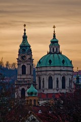 St Nicholas Church, Prague (IvanS8) Tags: sunset church prague dusk stnicholas czechrepublic