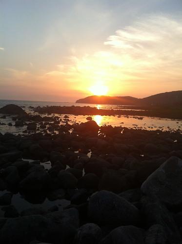 Solnedgång i Mölle / sunset in Mölle